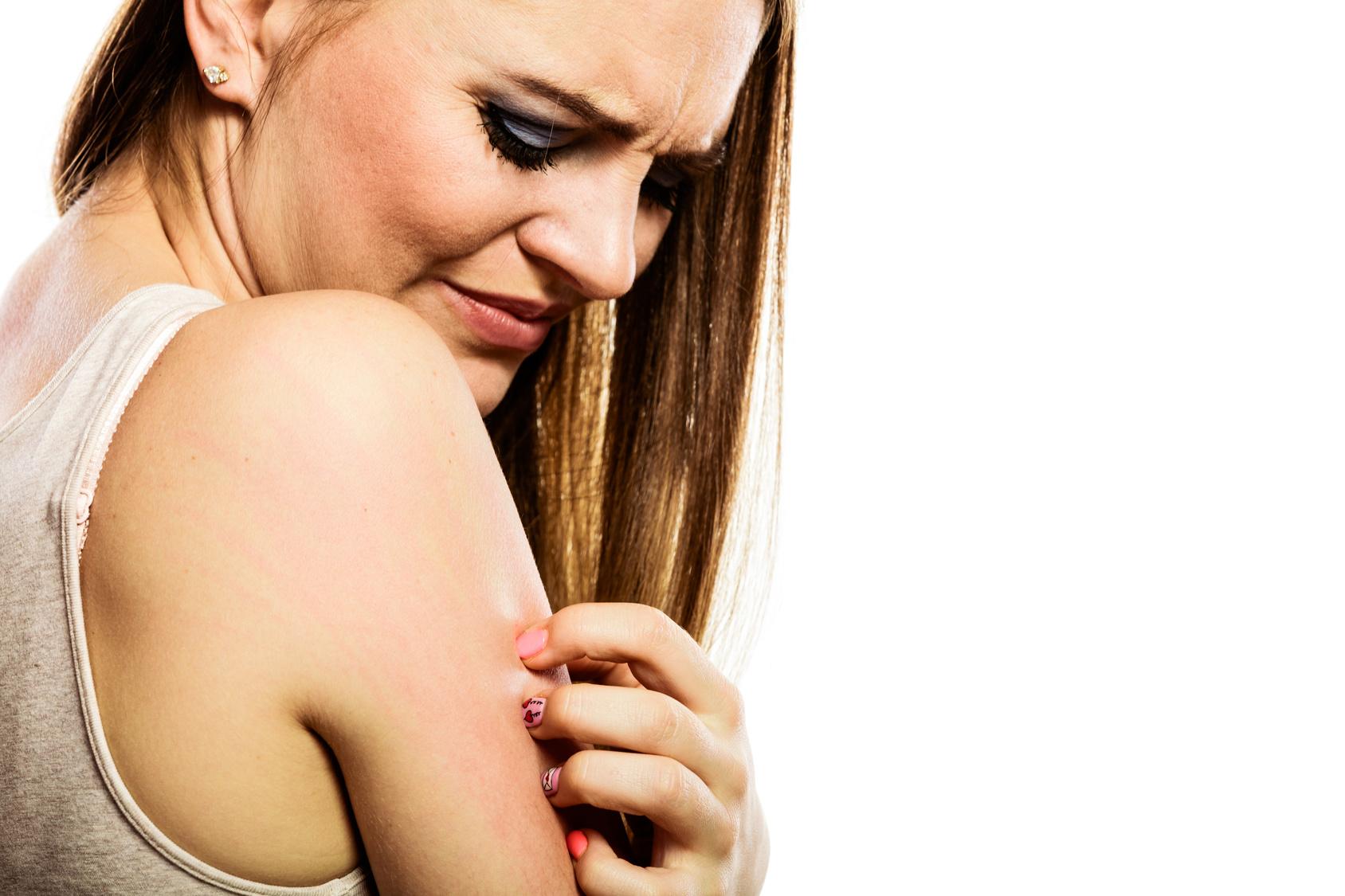 сыпь на плече