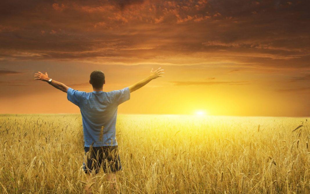 человек и солнце