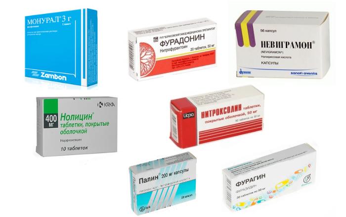 Препараты для лечения инфекций мочеполовой системы